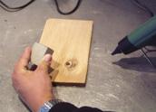 Aplicare metal pentru racirea zonei reparate